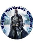 "7.5"" Batman Personalised Edible Icing or Wafer Birthday Cake Top Topper"